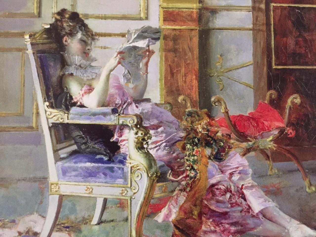 Woman luxuriates while reading